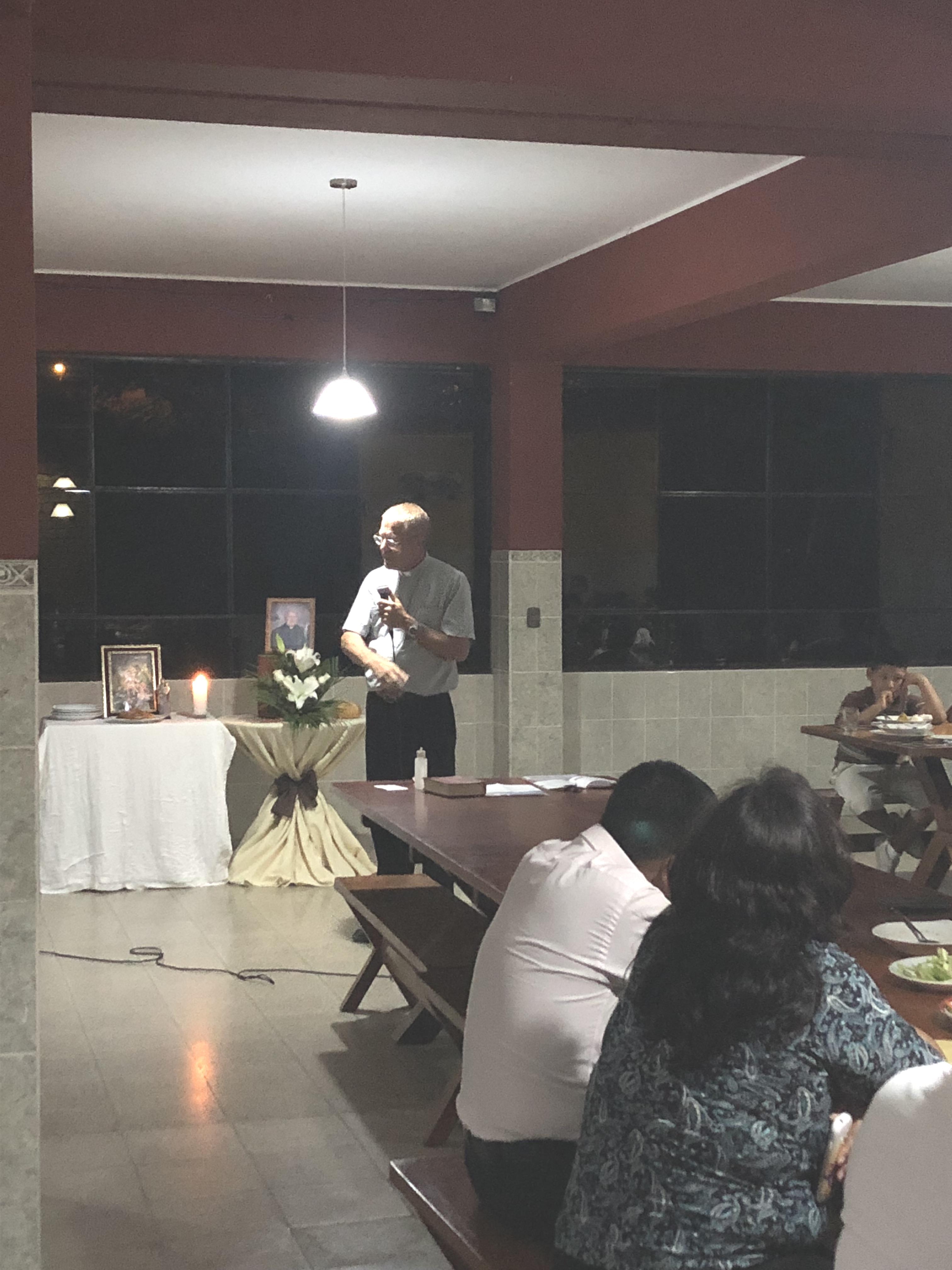 The children of Casa Hogar and friends whose lives were directly impacted by Padre Jose celebrated this special meal with a community dinner in Lurin, Peru. The evening commenced with a visit to Padre Jose's tomb.